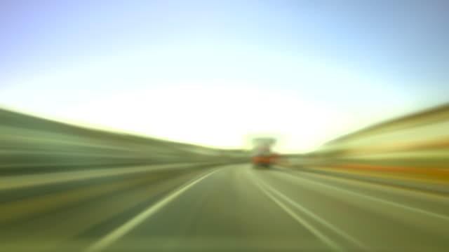 Time-Lapse of Motorway Driving. 4k video