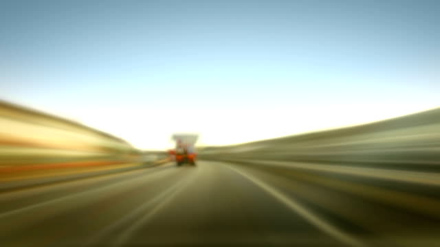 Time-Lapse of Motorway Driving Loop. HD video