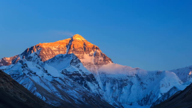 timelapse of mount everest - vetta video stock e b–roll