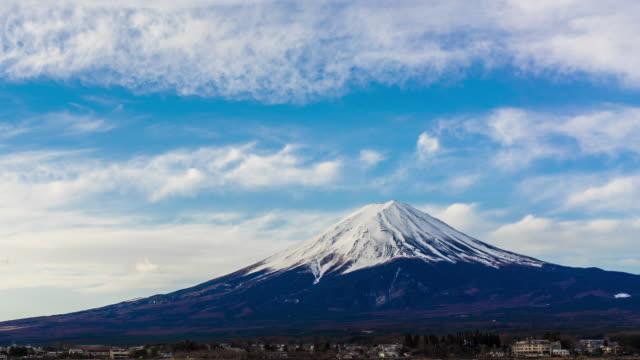 vidéos et rushes de timelapse de mt.fuji, emblème de la montagne du japon - fuji yama