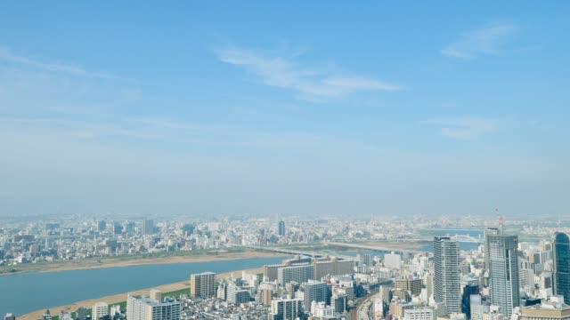 大阪市のタイムラプス - 空点の映像素材/bロール