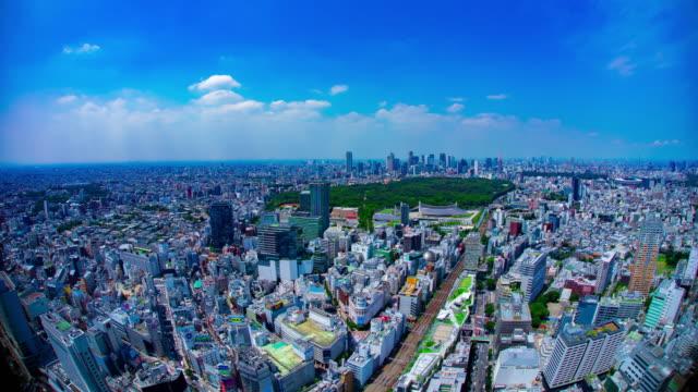 東京高角都市都市のパノラマ都市景観のタイムラプス - 経済点の映像素材/bロール