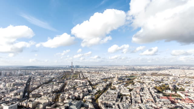 Paris, France - November 20, 2014: Timelapse of Paris city during the day, shot from the montpernasse tower. video