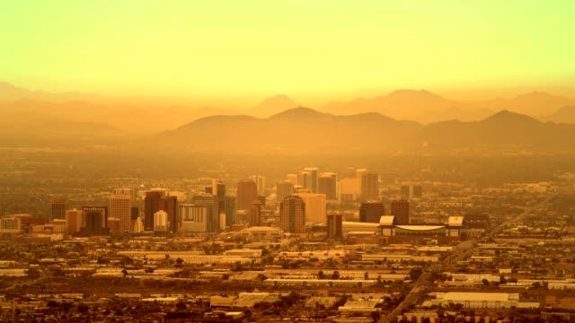 Timelapse of Phoenix, Arizona. Hazy Day in the Phoenix. United States of America. November 20, 2017. Timelapse of Phoenix, Arizona. Hazy Day in the Phoenix. United States of America. November 20, 2017. heat haze stock videos & royalty-free footage
