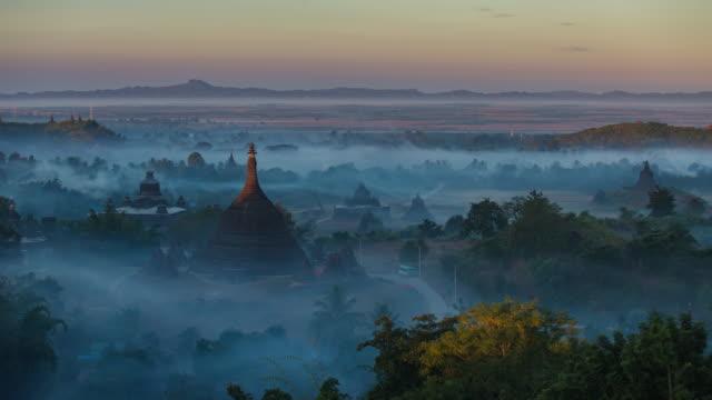 4K Timelapse of Ratanabon Paya in Mrauk-U 4K Timelapse of Ratanabon Paya in Mrauk-U, Myanmar. kachin state stock videos & royalty-free footage