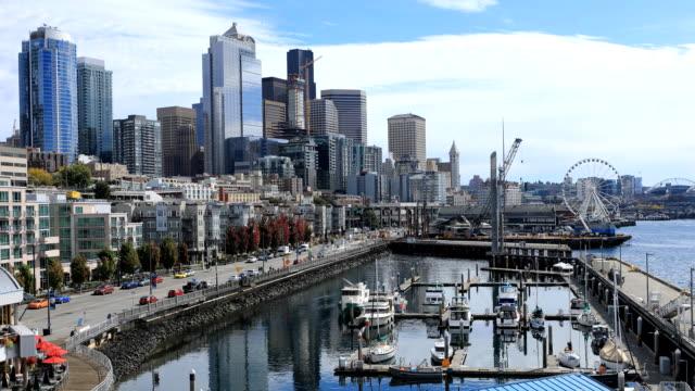 Timelapse of Seattle, Washington harbor