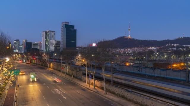 Timelapse of Seoul City Skyline, South Korea video