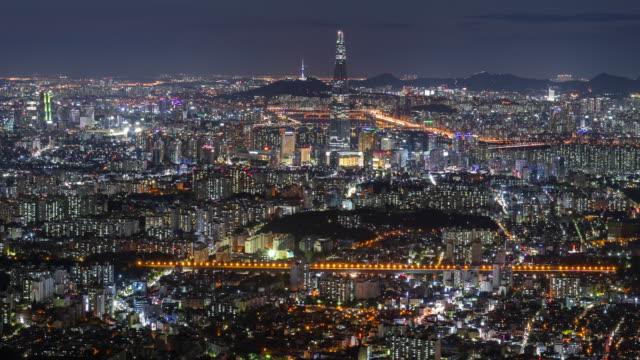 Timelapse of Seoul City Skyline, South Korea Timelapse of Seoul City Skyline, South Korea namsan seoul stock videos & royalty-free footage