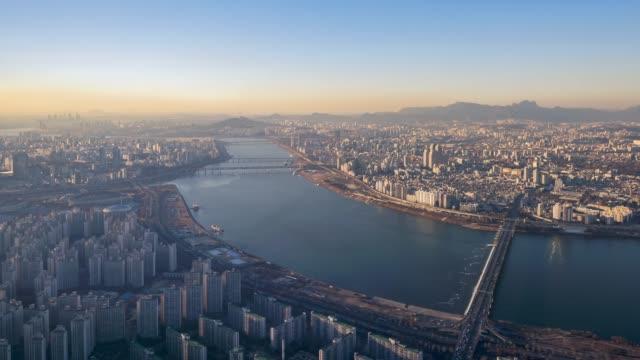 Timelapse of Seoul City Skyline,South Korea Timelapse of Seoul City Skyline,South Korea gyeongbokgung stock videos & royalty-free footage