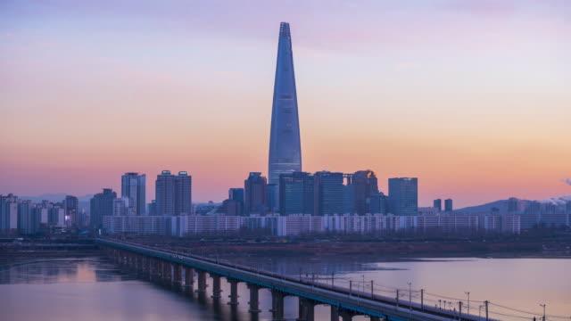 Timelapse of Seoul City Skyline,South Korea video