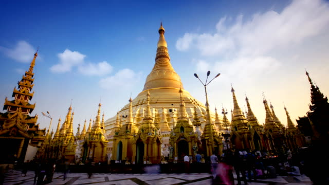 Timelapse of Shwedagon Temple, Yangon, Myanmar (Burma) Timelapse of Shwedagon Temple early morning. Yangon, Myanmar (Burma) myanmar stock videos & royalty-free footage
