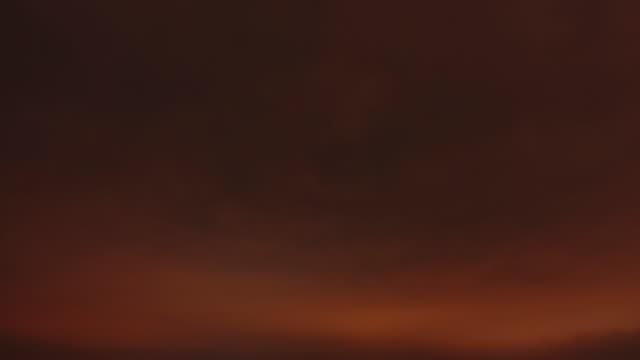 Timelapse of sky over night city. video