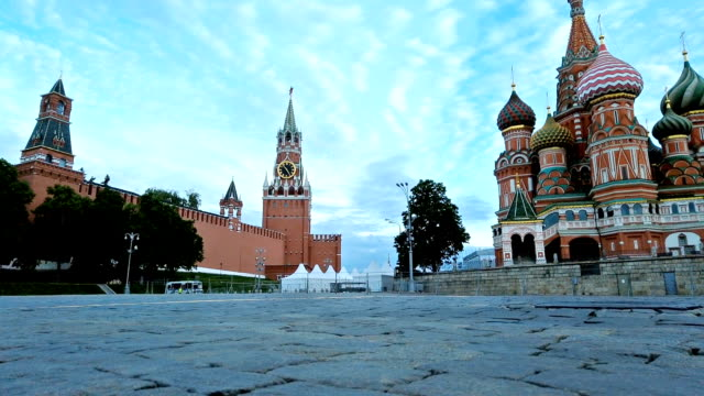 timelapse of st. basil cathedral moscow, russia video