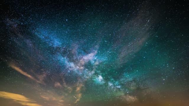 Timelapse of starry night sky