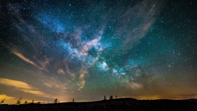 vídeos de stock e filmes b-roll de timelapse of starry nightsky - sky
