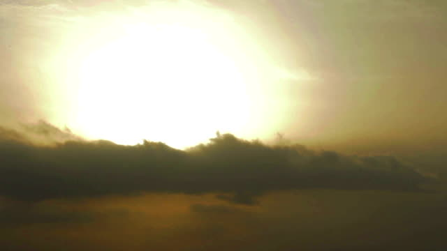 Time-lapse of sunrise. Battle between good and evil. Rays video