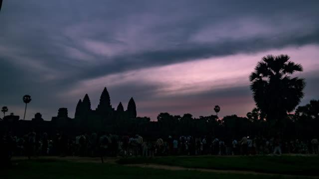 Timelapse of Sunrise over Angkor Wat video