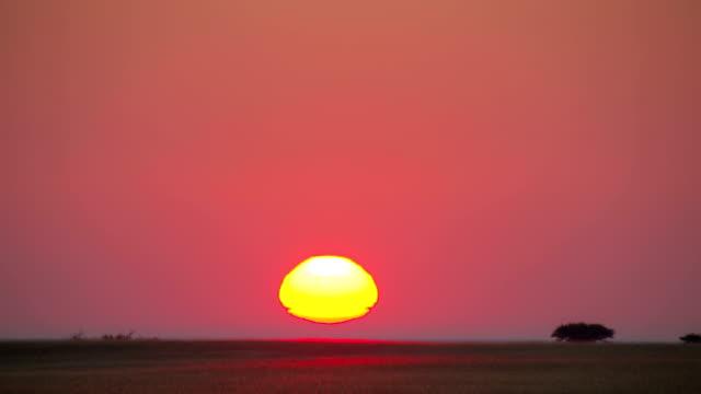 Time-lapse of sunrise over the African plains, Botswana Time-lapse of sunrise over the African plains, Botswana makgadikgadi pans national park stock videos & royalty-free footage