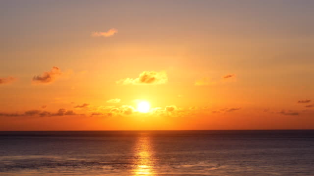 timelapse of sunset view with sea