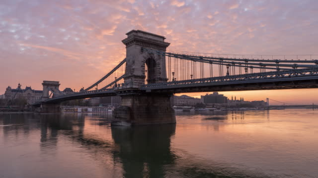 Timelapse of Széchenyi Chain Bridge video