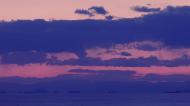 Timelapse of the Argosaronikos gulf in Athens, Greece and the Pireas port at sunset video