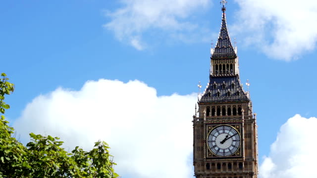 timelapse of the Big Ben tower in London video