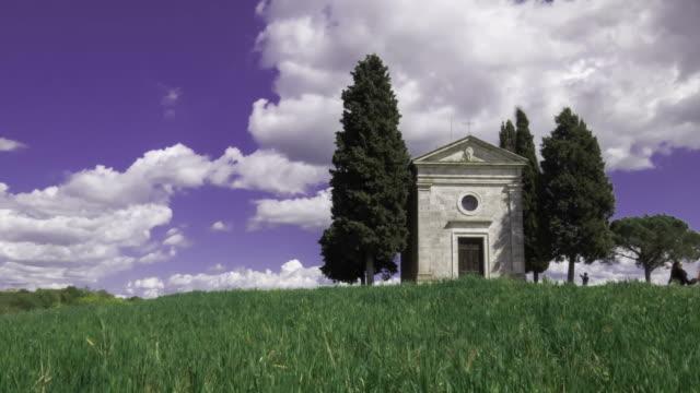 Timelapse of the Chapel of Madonna di Vitaleta, San Quirico D'Orcia, Siena.