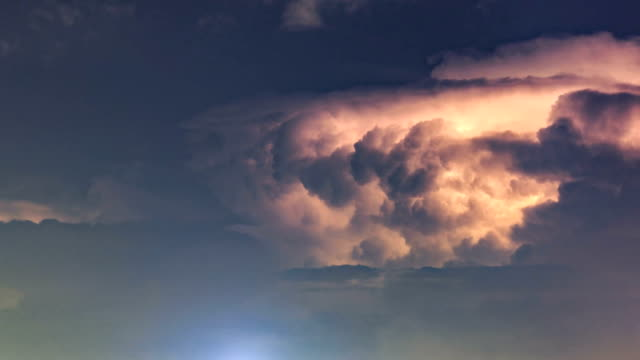 timelapse of the cloud - uragano video stock e b–roll