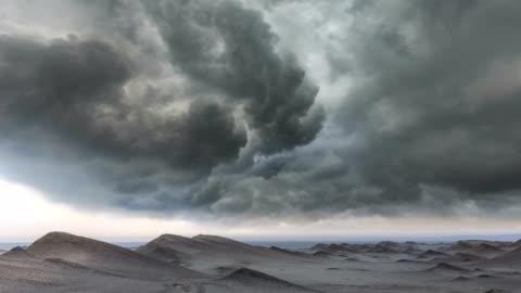 vidéos et rushes de timelapse du désert - ciel couvert