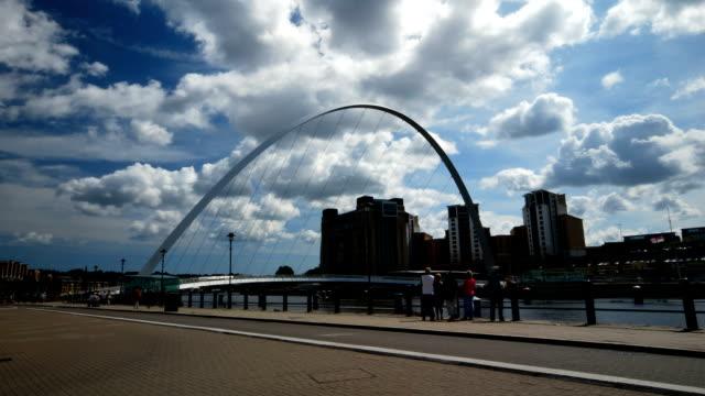 Timelapse of the Millennium Bridge in Gateshead video