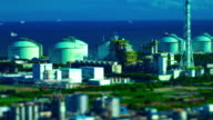istock A timelapse of the miniature industrial area in Yokkaichi Mie high angle tiltshift 1254175120