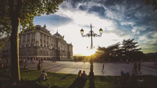 Timelapse der königliche Palast oder den Palacio Real in Madrid – Video