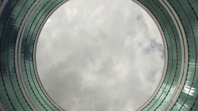 Time-lapse of the Sky Through a Circular, Loop-like Building video