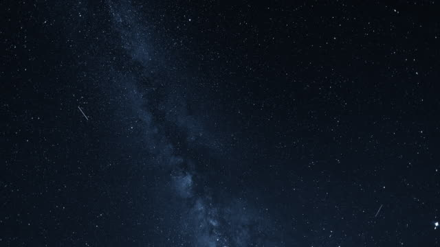 timelapse of the stars in milky way - infinito video stock e b–roll