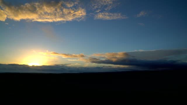 timelapse of the sunrise - video