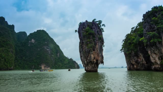Timelapse of the the James Bond Island, Thailand. video