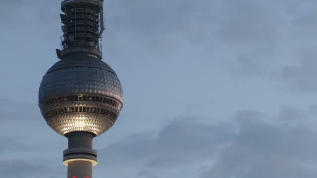 HD : timelapse of the Tv tower  alexanderplatz - Berlin video