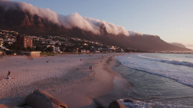Timelapse of the world famous Camps Bay beach Cape Town,South Africa video