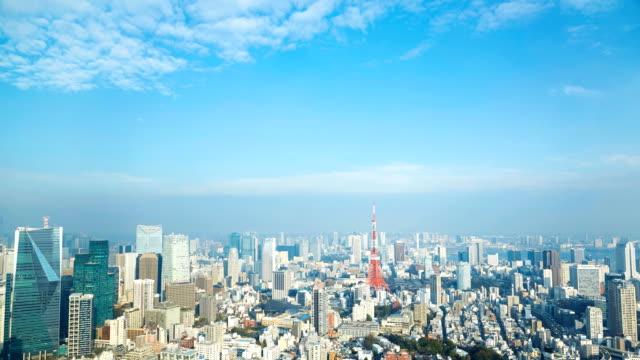 timelapse of tokyo city - время дня стоковые видео и кадры b-roll
