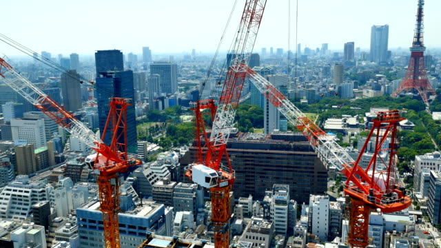 東京都心のタイムラプス - クレーン点の映像素材/bロール