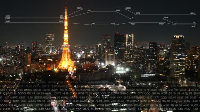 東京タワーのタイムラプス - モノのインターネット点の映像素材/bロール