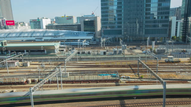 4K Time-lapse of Tokyo train station, Japan. A lot of train every day in Tokyo train station video