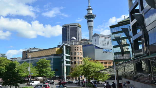 Timelapse of traffic in Auckland CBD, New Zealand video