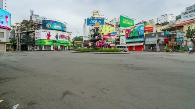 zeitplünde des verkehrs in ho-chi-minh-stadt saigon, vietnam am morgen - kommunismus stock-videos und b-roll-filmmaterial