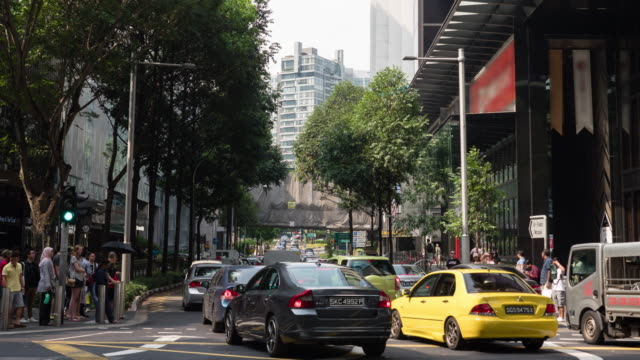 Time-lapse of traffic rush hour at Singapore video