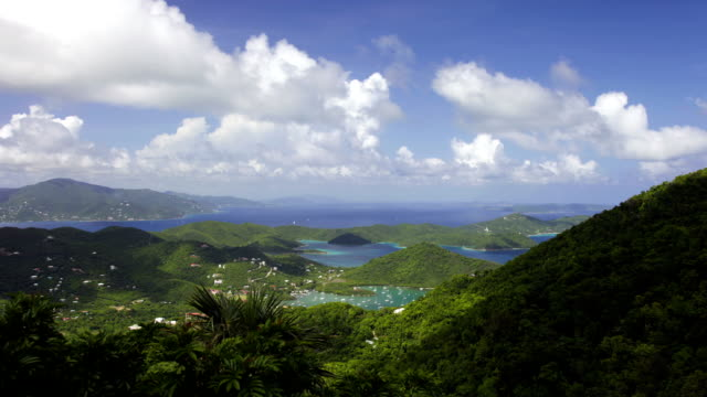 Timelapse of US and British Virgin Islands video
