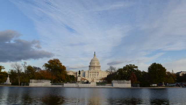 Timelapse of U.S. Capitol Building and clouds in Washington DC, USA video