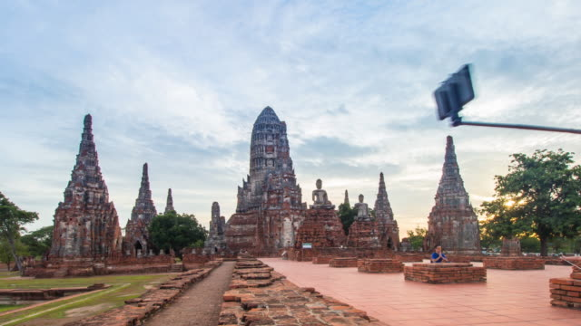 4K Time-Lapse: Old Temple wat Chaiwatthanaram sunset 4K Time-Lapse: Old Temple wat Chaiwatthanaram sunset of Ayutthaya Province Asia Thailand. sukhothai stock videos & royalty-free footage
