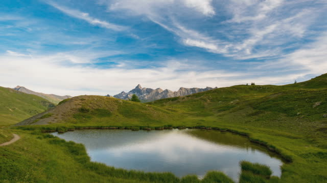 Timelapse on the Alps in summer