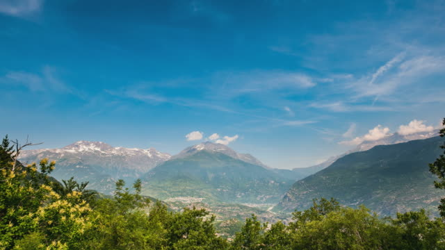 Timelapse on the Italian Alps in summer video